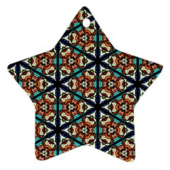 Church Window Stained Glass Texture Ornament (star)