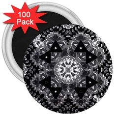Mandala Calming Coloring Page 3  Magnets (100 Pack) by Pakrebo