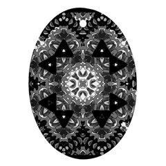 Mandala Calming Coloring Page Oval Ornament (two Sides) by Pakrebo