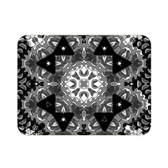 Mandala Calming Coloring Page Double Sided Flano Blanket (mini)