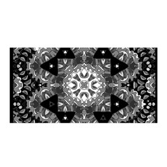 Mandala Calming Coloring Page Satin Wrap