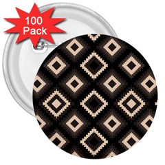Native American Pattern 3  Buttons (100 Pack)