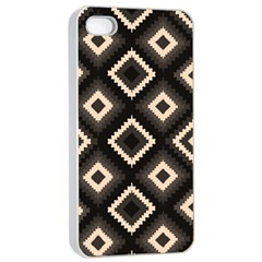 Native American Pattern Apple Iphone 4/4s Seamless Case (white)