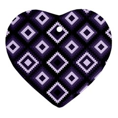 Native American Pattern Heart Ornament (two Sides)
