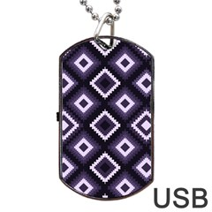 Native American Pattern Dog Tag Usb Flash (one Side) by Valentinaart
