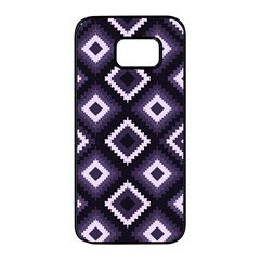 Native American Pattern Samsung Galaxy S7 Edge Black Seamless Case by Valentinaart