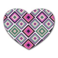 Native American Pattern Heart Mousepads