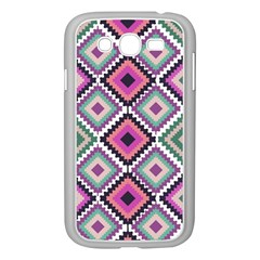 Native American Pattern Samsung Galaxy Grand Duos I9082 Case (white) by Valentinaart