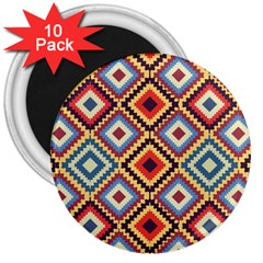Native American Pattern 3  Magnets (10 Pack)