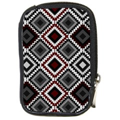Native American Pattern Compact Camera Leather Case by Valentinaart
