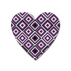 Native American Pattern Heart Magnet by Valentinaart