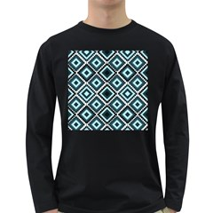 Native American Pattern Long Sleeve Dark T Shirt