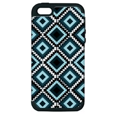 Native American Pattern Apple Iphone 5 Hardshell Case (pc+silicone)