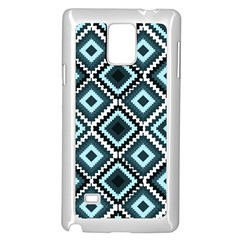 Native American Pattern Samsung Galaxy Note 4 Case (white) by Valentinaart