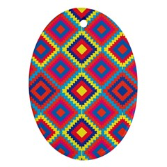 Native American Pattern Oval Ornament (two Sides)
