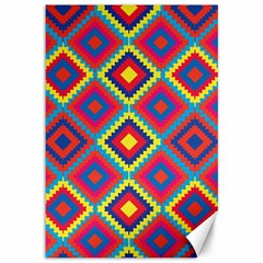 Native American Pattern Canvas 12  X 18