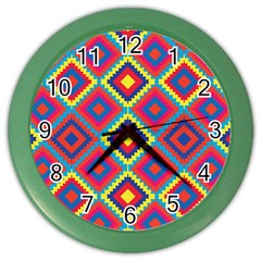 Native American Pattern Color Wall Clock