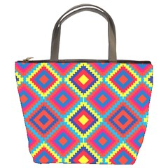 Native American Pattern Bucket Bag