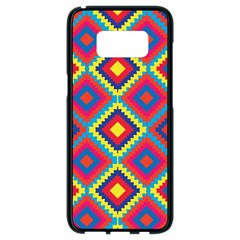 Native American Pattern Samsung Galaxy S8 Black Seamless Case