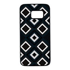 Native American Pattern Samsung Galaxy S7 Black Seamless Case by Valentinaart