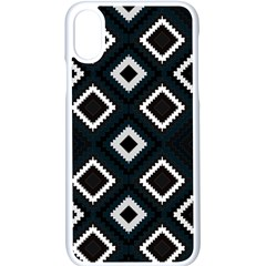 Native American Pattern Apple Iphone X Seamless Case (white)