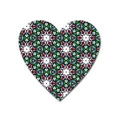 Stained Glass Pattern Church Window Heart Magnet
