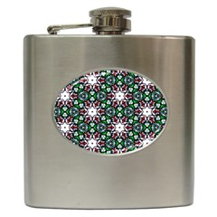 Stained Glass Pattern Church Window Hip Flask (6 Oz)