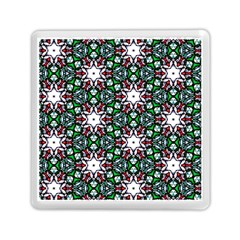 Stained Glass Pattern Church Window Memory Card Reader (square)