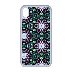 Stained Glass Pattern Church Window Apple Iphone Xr Seamless Case (white)