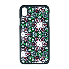 Stained Glass Pattern Church Window Apple Iphone Xr Seamless Case (black)