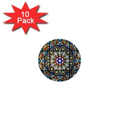 Vitrage Stained Glass Church Window 1  Mini Magnet (10 Pack)