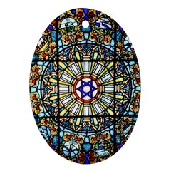 Vitrage Stained Glass Church Window Oval Ornament (two Sides)