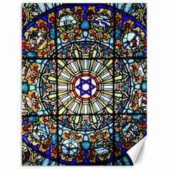 Vitrage Stained Glass Church Window Canvas 18  X 24