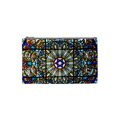 Vitrage Stained Glass Church Window Cosmetic Bag (small)