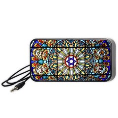 Vitrage Stained Glass Church Window Portable Speaker