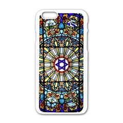 Vitrage Stained Glass Church Window Apple Iphone 6/6s White Enamel Case