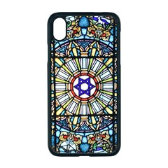 Vitrage Stained Glass Church Window Apple Iphone Xr Seamless Case (black)