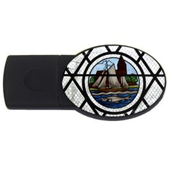 Window Image Stained Glass Usb Flash Drive Oval (2 Gb)