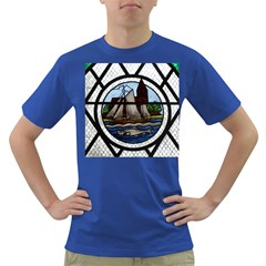 Window Image Stained Glass Dark T Shirt