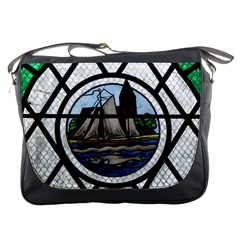 Window Image Stained Glass Messenger Bag by Pakrebo