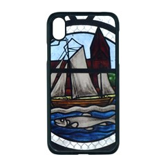 Window Image Stained Glass Apple Iphone Xr Seamless Case (black)