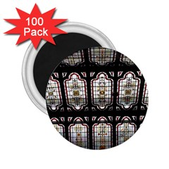 Stained Glass Window Repeat 2 25  Magnets (100 Pack)