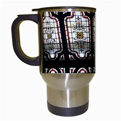 Stained Glass Window Repeat Travel Mugs (white)