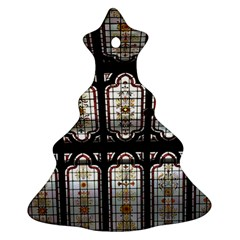 Stained Glass Window Repeat Christmas Tree Ornament (two Sides)