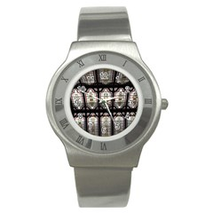 Window Image Stained Glass Stainless Steel Watch