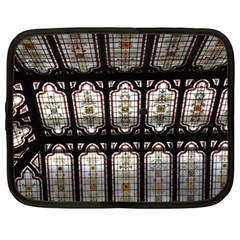 Window Image Stained Glass Netbook Case (xl) by Pakrebo