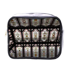 Window Image Stained Glass Mini Toiletries Bag (one Side) by Pakrebo