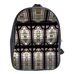 Window Image Stained Glass School Bag (xl) by Pakrebo