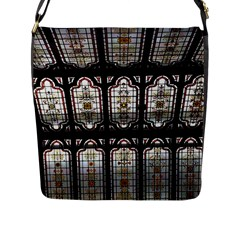 Window Image Stained Glass Flap Closure Messenger Bag (l) by Pakrebo