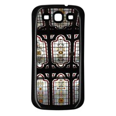 Window Image Stained Glass Samsung Galaxy S3 Back Case (black)